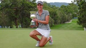 Meghan MacLaren with the Women's NSW Open Trophy