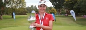 Meghan MacLaren with the Womens NSW Open Crown